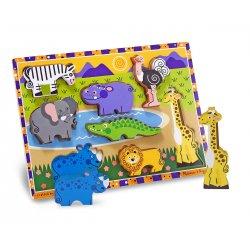 Puzzle à encastrement safari et pièces