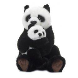 Maman Panda 28 cm, avec bébé