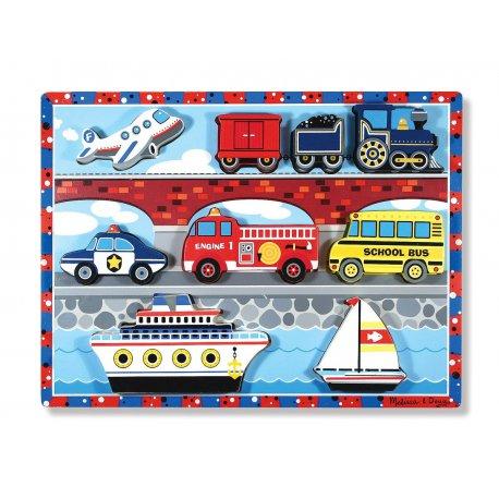 puzzle en bois a encastrement véhicules