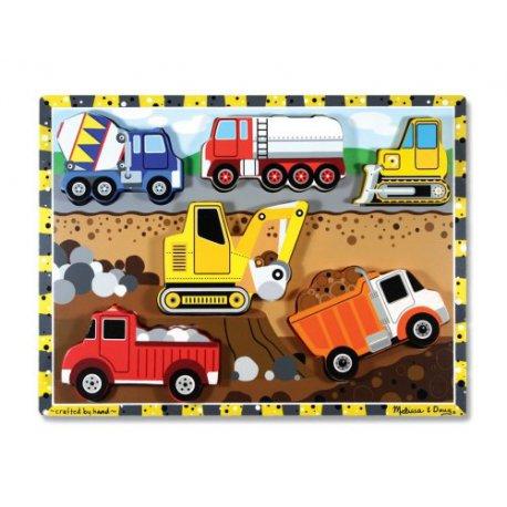 Puzzle à encastrement Véhicules de chantier