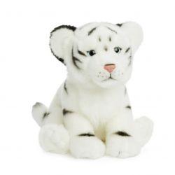 Peluche Tigre blanc couché 23 cm