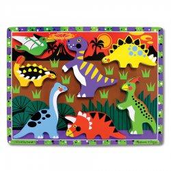 puzzle en bois à encastrement dinosaures