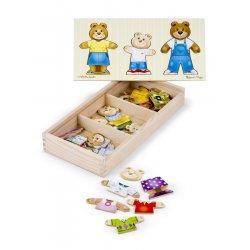 Puzzle en bois habille la famille ours - Melissa et Doug