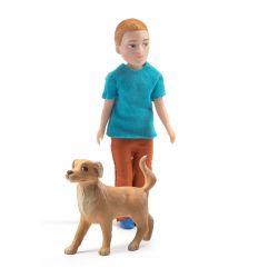 Poupées Djeco - Xavier et son chien