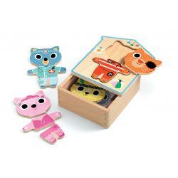 Dressup-mix 6 puzzles de 3 pièces