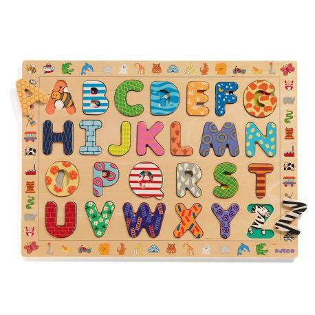 Puzzle éducatif en bois ABC