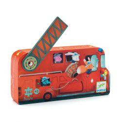 Puzzle Le camion de pompier Djeco 16 pièces