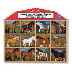 Figurine chevaux - Copains de pâturage