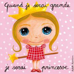 Tableau Quand je serai grande je serai princesse