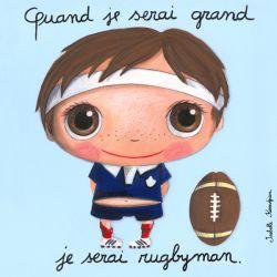 Tableau Quand je serai grand je serai rugbyman