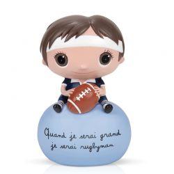 Tirelire Quand je serai grand je serai rugbyman