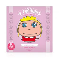 Set de 5 pochoirs Fille - pochette