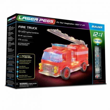 Camion de pompier 12 en 1 Laser Pegs - coffret