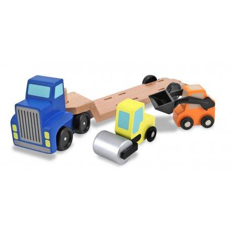 Semi remorque et ses véhicules de construction