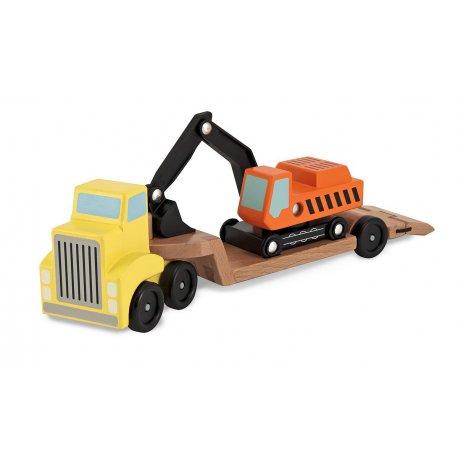 Camion et excavatrice