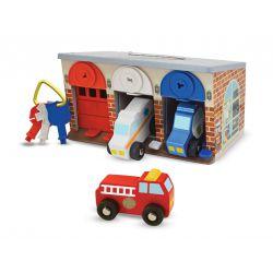 Garage à verrouiller avec véhicules Melissa et Doug