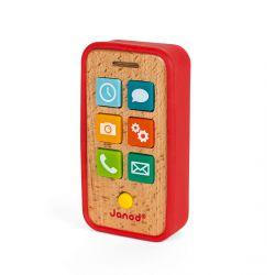 Téléphone pour enfant en bois avec sons