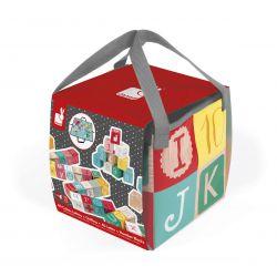 Kubix 40 cubes en bois lettres et chiffres