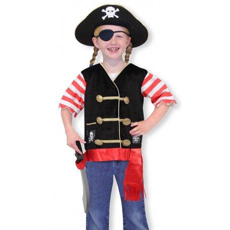 Petite fille dans son déguisement pirate
