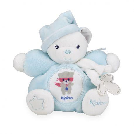 Imagine Patapouf ours aqua dans sa boîte