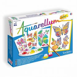 Aquarellum junior papillons et fleurs