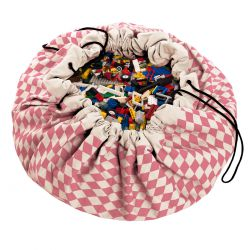 Sac rangement de jouets - Diamant rose- Play and Go