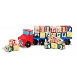 Camion et cube alphabet en bois