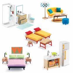 Premier Pack mobilier pour maison de poupées Djeco