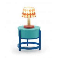 Lampe sur table ronde - Mobilier maison de poupées Djeco
