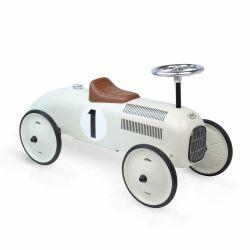 Porteur voiture vintage blanc crème Vilac