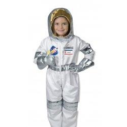 Petite fille dans le déguisement d'astronaute