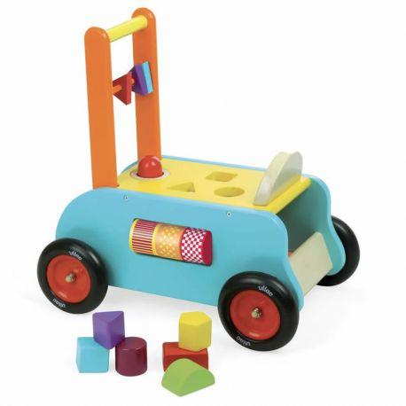 Chariot de marche 3 en 1 - boîte à forme
