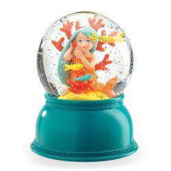 Veilleuse boule de neige Sirène