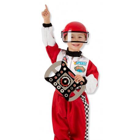 Garçon dans le déguisement pilote automobile (F1) Melissa et Doug