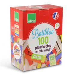 Batibloc color 100 planchettes en bois colorées