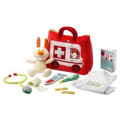 mallette de docteur lilliputiens - L'ambulance du petit docteur
