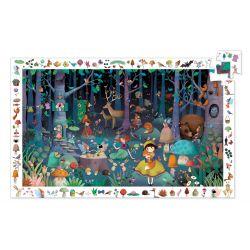Puzzle d'observation 5 ans la forêt enchantée 100 pièces
