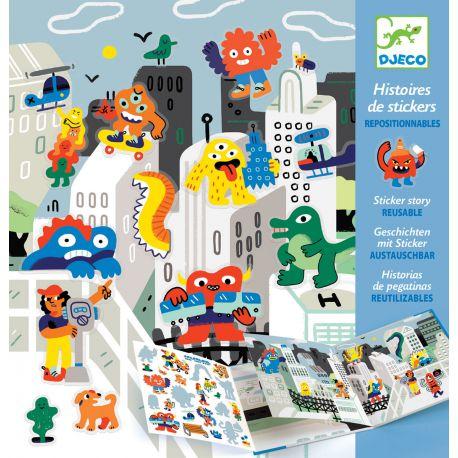 Stickers repositionnables L'invasion des monstres