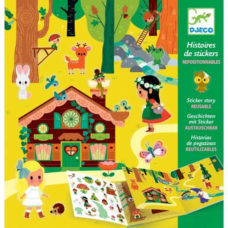 Stickers repositionnables La forêt magique