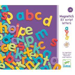 83 Lettres minuscules magnétiques en bois Djeco