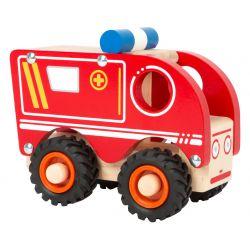 Ambulance véhicule en bois