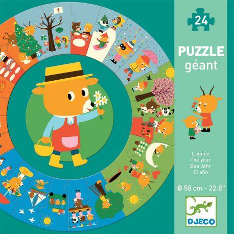 Puzzle géant l'année 24 pièces