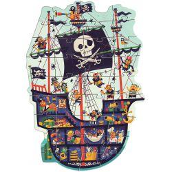 Puzzle géant Le bateau des pirates 36 pièces