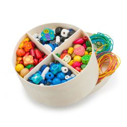 Boîte de 600 perles en bois
