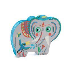 Puzzle 3 ans Haathee, éléphant d'Asie Djeco 24 pièces