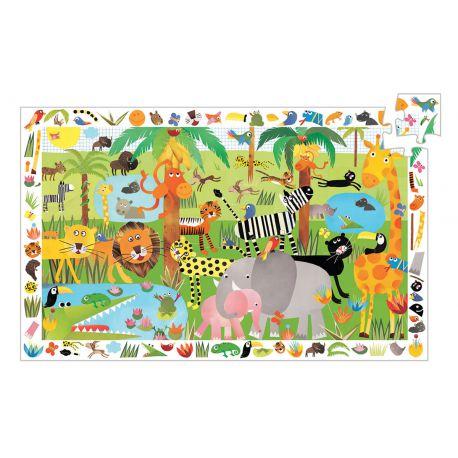 La jungle - Puzzle d'observation 3 ans - 35 pièces