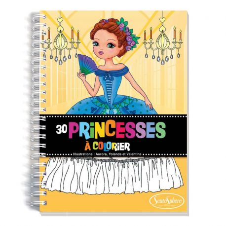 Carnet de coloriage Princesses