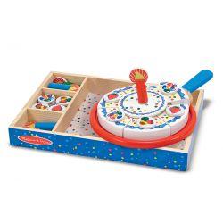 Gâteau d'anniversaire- Dînette en bois