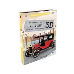 Construis la voiture 3D + Histoire de l'automobile - Livre + maquette