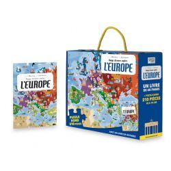 Voyage, découvre, explore l'Europe - puzzle + livre
